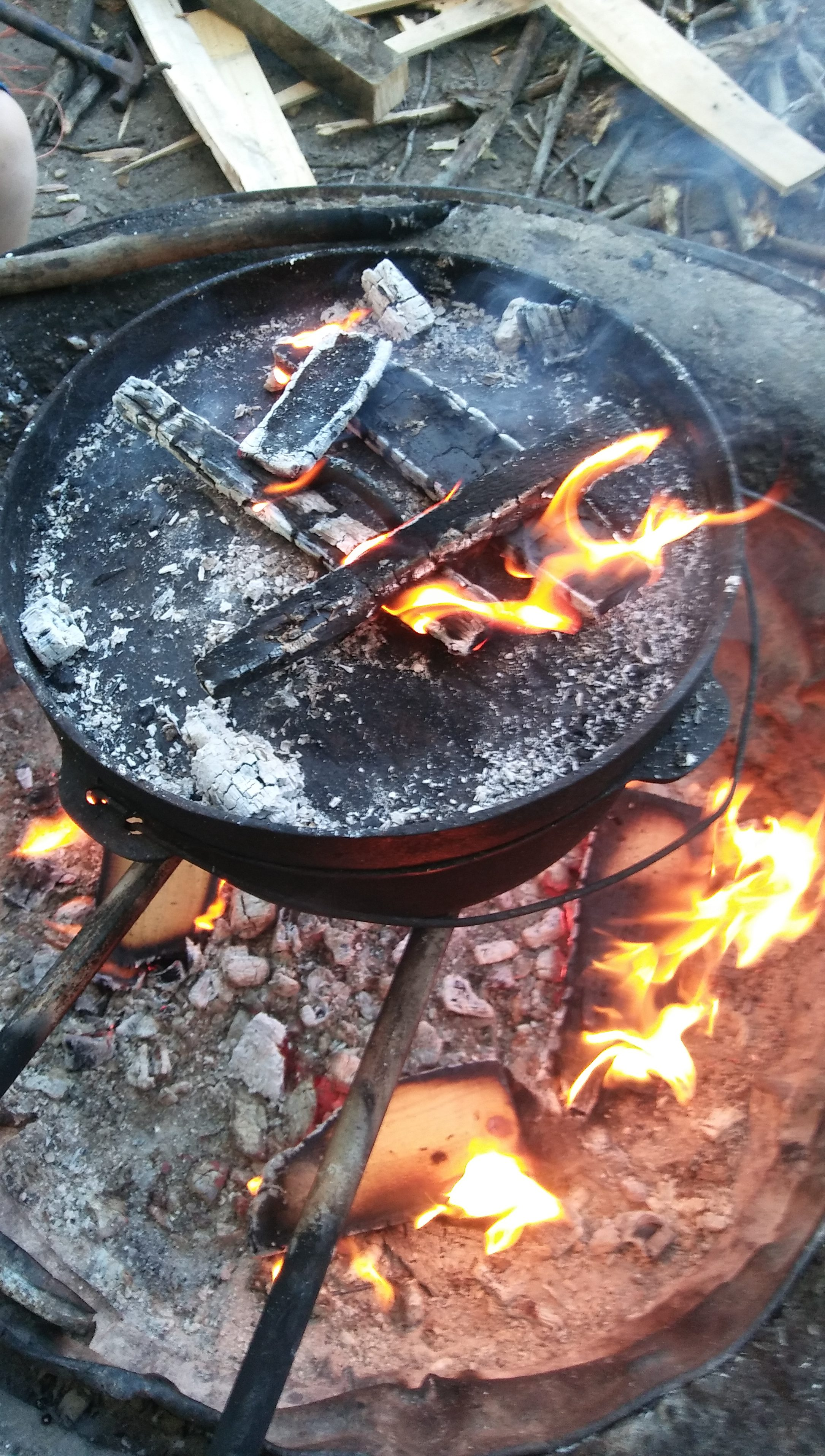 Cooking Over An Open Fire Pit | Is Dinner Ready Yet?