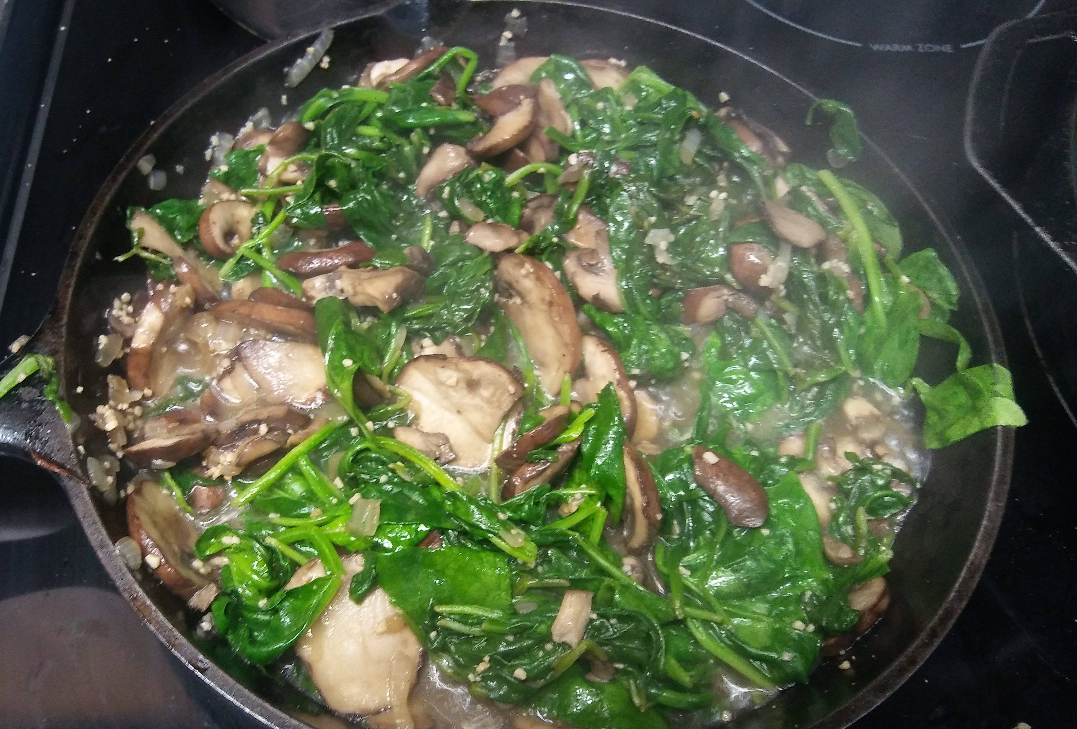 Spinach And Mushroom Side Dish - Healthy And Taste Great!