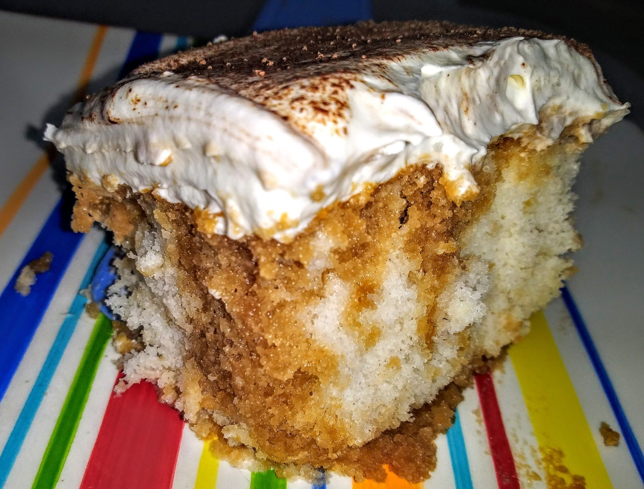 Tiramisu Poke Cake – White Cake Infused With Coffee